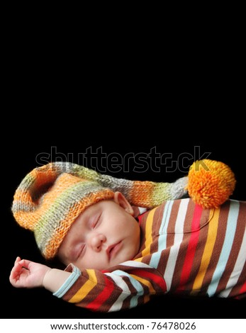 cute baby sleeping - stock photo