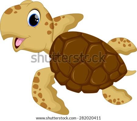 Cute baby turtles - stock photo