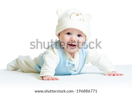cute baby weared funny hat