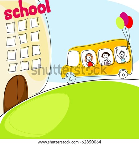 Cute back to school illustration - stock photo