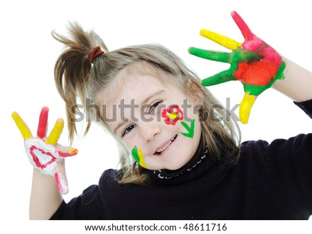 Cute blonde little girl - stock photo