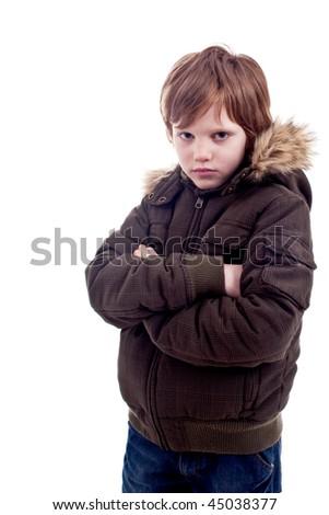 Cute boy sad - stock photo