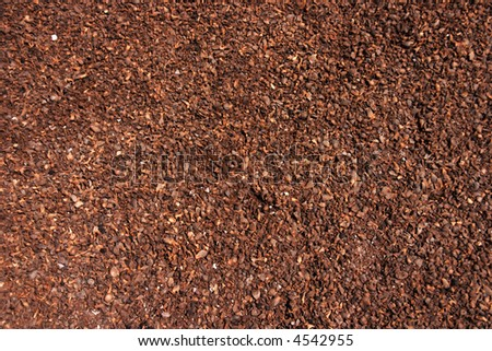 cute brown cocoa husk background - stock photo