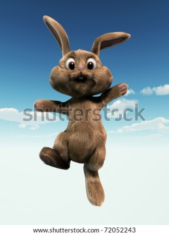 cute bunny - stock photo