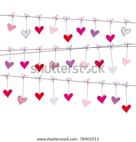 Cute card on festive occasion - stock photo