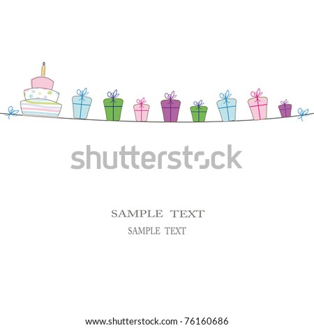 Cute card on festivity occasion - stock photo