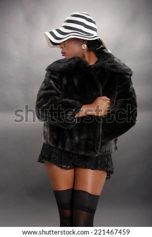 Cute caribbean in fur - stock photo
