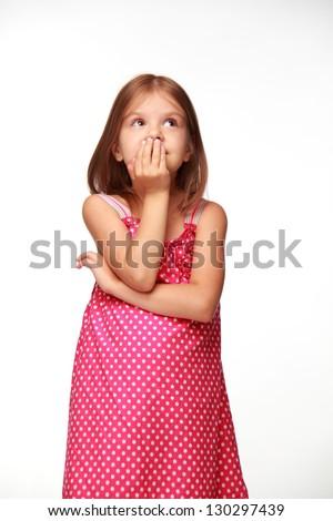 Cute cheerful child - stock photo