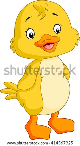Cute chicken cartoon - stock photo
