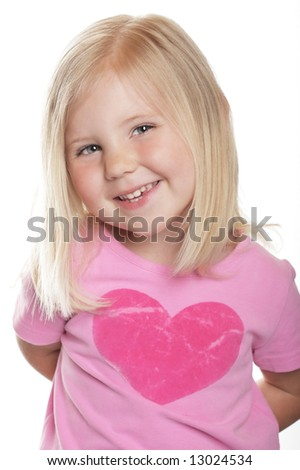 cute child girl portrait smile - stock photo