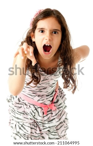 Cute child making a funny expression  - stock photo