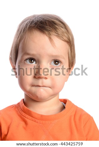 Cute child on white background