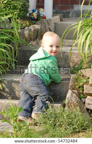 cute child outdoor - stock photo