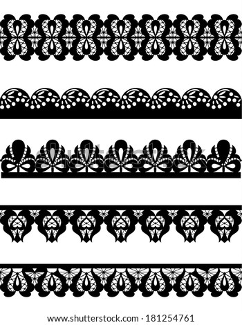 cute collection of seamless lace. trims