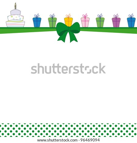 Cute color card on special day - stock photo
