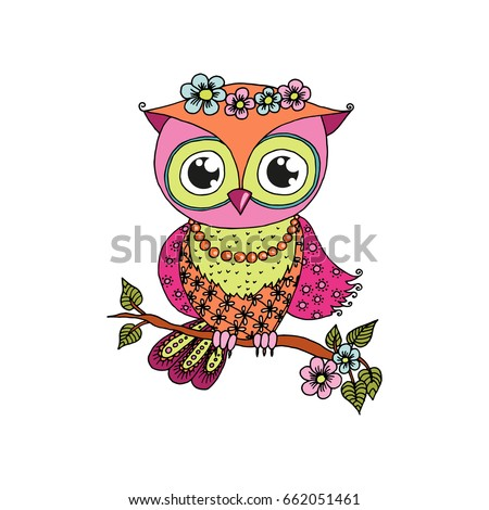 Colorful Owl Images Stock Photos amp Vectors  Shutterstock