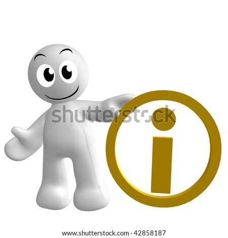 Cute 3 D Icon Information Centre Symbol Stock Illustration 42858187