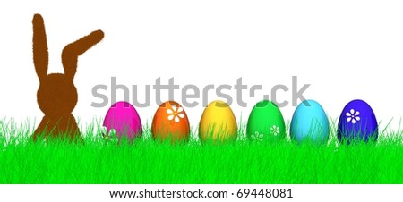 cute easter bunny - stock photo