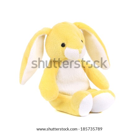 Cute easter bunny. Isolated on a white background. - stock photo