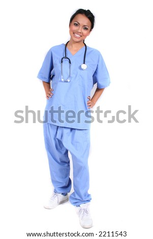 Cute Female Nurse, Doctor, Medical Worker for any generic medical setting