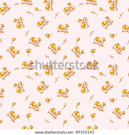cute floral seamless pattern - stock photo