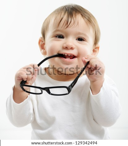 Cute funny baby glasses 129342494 shutterstock cute funny baby with glasses voltagebd Images