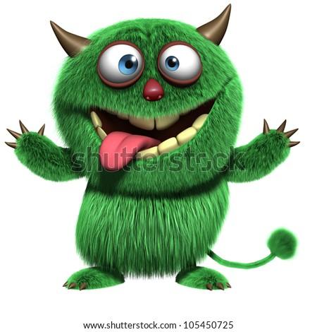 cute furry troll - stock photo