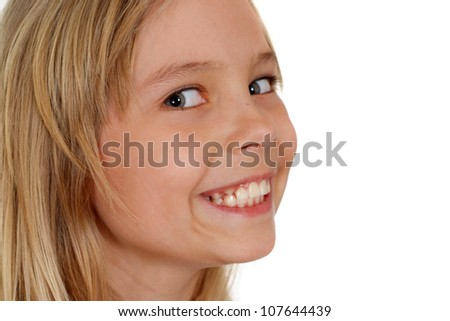 Cute girl showed herself in the photos in all her glory - stock photo