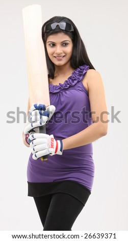 Cute girl standing with cricket bat and specs  sc 1 st  Shutterstock & Cute Girl Standing Cricket Bat Specs Stock Photo (Royalty Free ...
