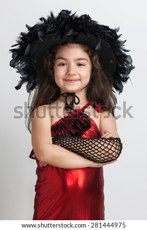 Cute girl with a dance costume - stock photo