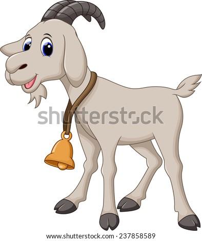 Cute goat cartoon - stock photo