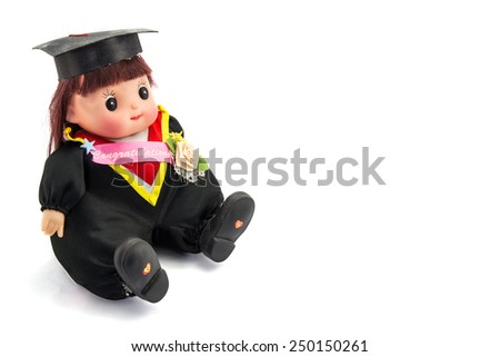 Cute graduation girl - stock photo