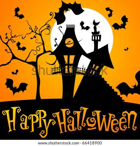 Cute Halloween illustration - stock photo