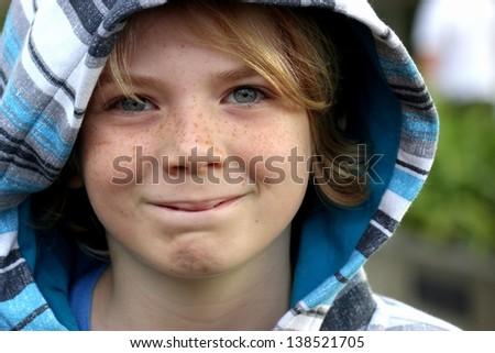Cute happy boy child - stock photo