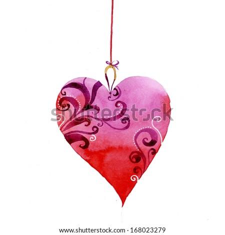Cute Heart Illustration - stock photo