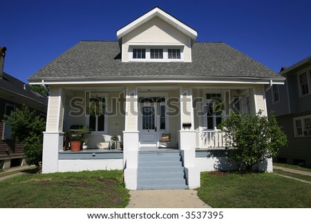 Cute house in New Orleans Louisiana - stock photo