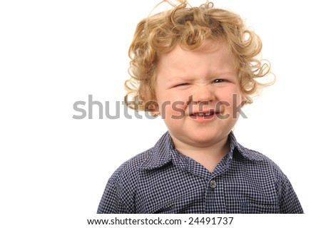 Cute Image of a Young Boy isolated