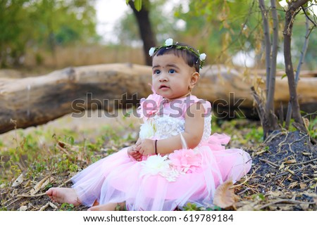 cute indian baby girl  sc 1 st  Shutterstock : indian infant costume  - Germanpascual.Com