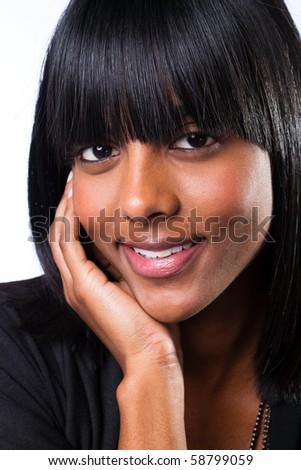 cute indian girl closeup - stock photo