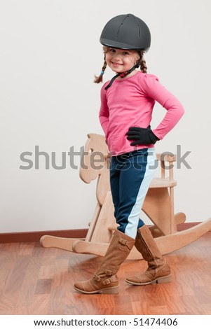 Cute jockey - stock photo