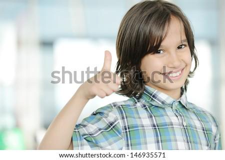 Cute kid indoors portrait - stock photo