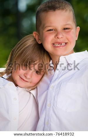 cute kids - stock photo
