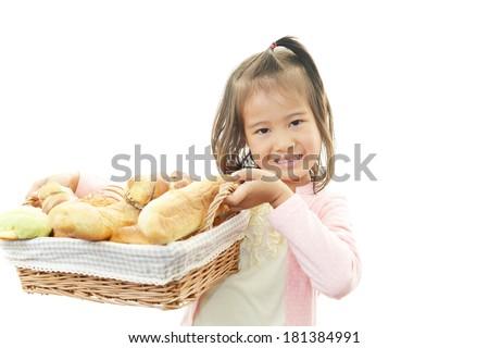 Cute little Asian girl smiling - stock photo