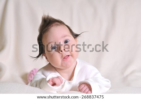 cute little baby girl - stock photo