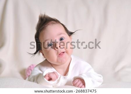 cute little baby girl - stock photo
