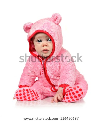 Cute Little Baby Girl Fun Clothes Stock Photo 116430697 - Shutterstock