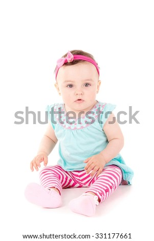 cute little baby isolated in white background