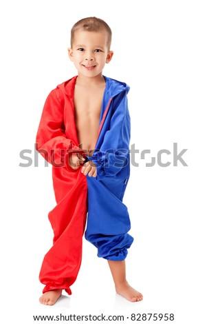 Cute little boy - stock photo