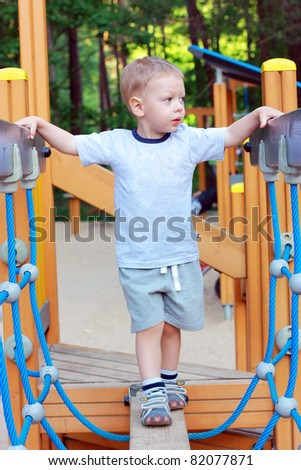 Cute little boy at the playground