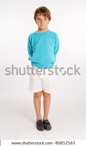 Cute Little Boy Dressed Summer Clothes Stock Photo ...